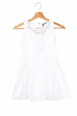 Детска рокля Ermanno Scervino, Размер 8-9y/ 134-140 см, Цвят Бял, 97% памук, 3% еластан, Цена 146,65лв.