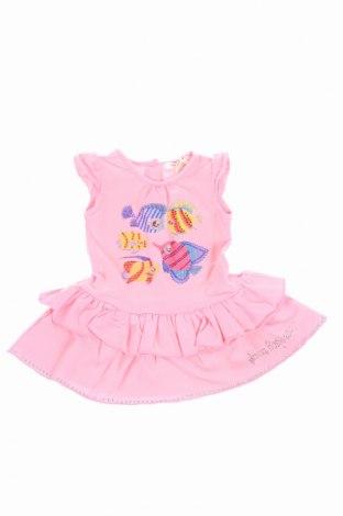 Detské šaty  Laura Biagiotti, Veľkosť 3-6m/ 62-68 cm, Farba Ružová, 92% bavlna, 8% elastan, Cena  19,95€