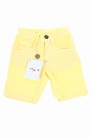Detské krátke nohavice  Amelia, Veľkosť 12-18m/ 80-86 cm, Farba Žltá, 97% bavlna, 3% elastan, Cena  9,74€