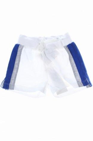 Pantaloni scurți de copii Bikkembergs, Mărime 6-9m/ 68-74 cm, Culoare Alb, 100% bumbac, Preț 60,74 Lei