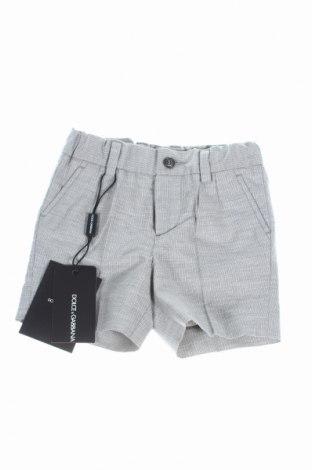 Детски къс панталон Dolce & Gabbana, Размер 3-6m/ 62-68 см, Цвят Сив, Памук, Цена 111,65лв.