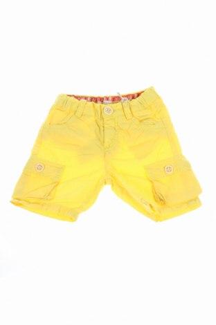 Детски къс панталон Roberto Cavalli, Размер 6-9m/ 68-74 см, Цвят Жълт, 100% памук, Цена 49,70лв.
