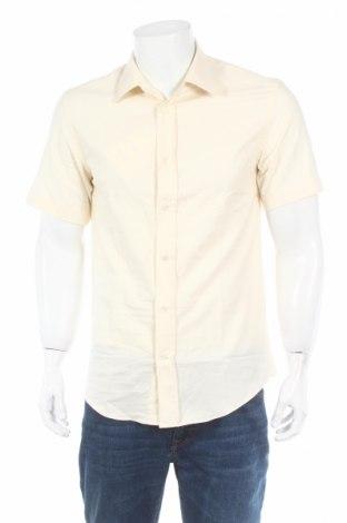 Мъжка риза Acne Studios, Размер L, Цвят Екрю, Памук, Цена 88,02лв.