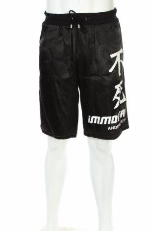 Мъжки къс панталон Andrea Crews, Размер S, Цвят Черен, 100% полиестер, Цена 381,75лв.
