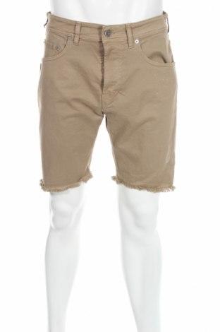 Pantaloni scurți de bărbați Mauro Grifoni, Mărime M, Culoare Bej, 96% bumbac, 4% elastan, Preț 168,89 Lei