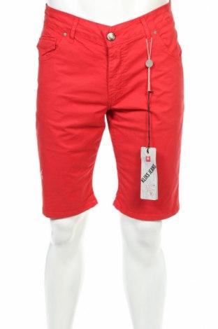Férfi rövidnadrág Klixs Jeans, Méret L, Szín Piros, 97% pamut, 3% elasztán, Ár 17824 Ft