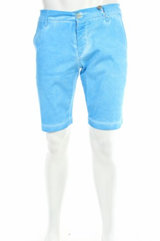 Pantaloni scurți de bărbați Moa, Mărime M, Culoare Albastru, 98% bumbac, 2% elastan, Preț 159,51 Lei