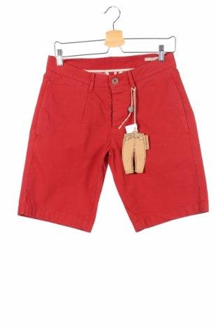 Pantaloni scurți de bărbați Peuterey, Mărime S, Culoare Roșu, 98% bumbac, 2% elastan, Preț 101,48 Lei