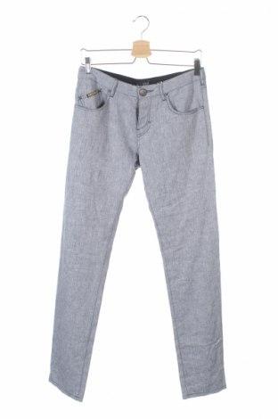 Ανδρικό παντελόνι Armani Jeans, Μέγεθος S, Χρώμα Μπλέ, 54% λινό, 44% βαμβάκι, 2% ελαστάνη, Τιμή 59,15€
