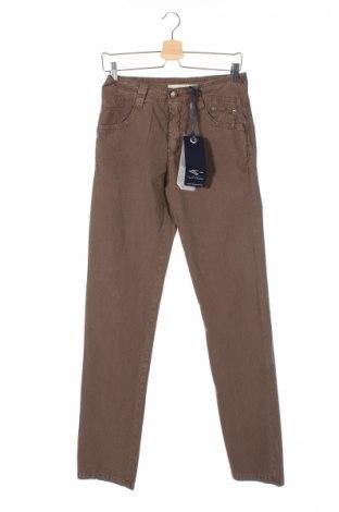 Мъжки панталон Carlo Chionna, Размер S, Цвят Кафяв, 96% памук, 4% еластан, Цена 164,25лв.