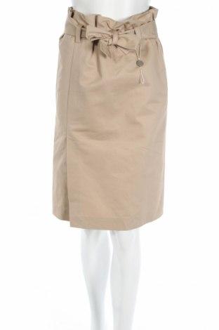Φούστα Emilio Pucci, Μέγεθος S, Χρώμα  Μπέζ, 75% βαμβάκι, 25% λινό, Τιμή 106,14€