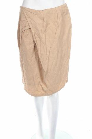 Φούστα Van Der Mark, Μέγεθος M, Χρώμα  Μπέζ, 50% βαμβάκι, 45% βισκόζη, 5% άλλα υφάσματα, Τιμή 5,53€