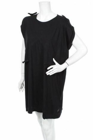Sukienka Mm6 Maison Martin Margiela, Rozmiar S, Kolor Czarny, 71% wiskoza, 29% poliester, Cena 153,41zł