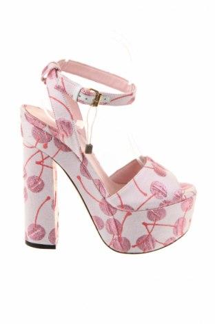 Sandály  Giamba, Veľkosť 38, Farba Ružová, Textil, Cena  129,72€