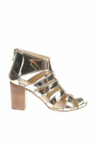 Sandale Le Pepite, Mărime 37, Culoare Auriu, Piele ecologică, Preț 118,02 Lei