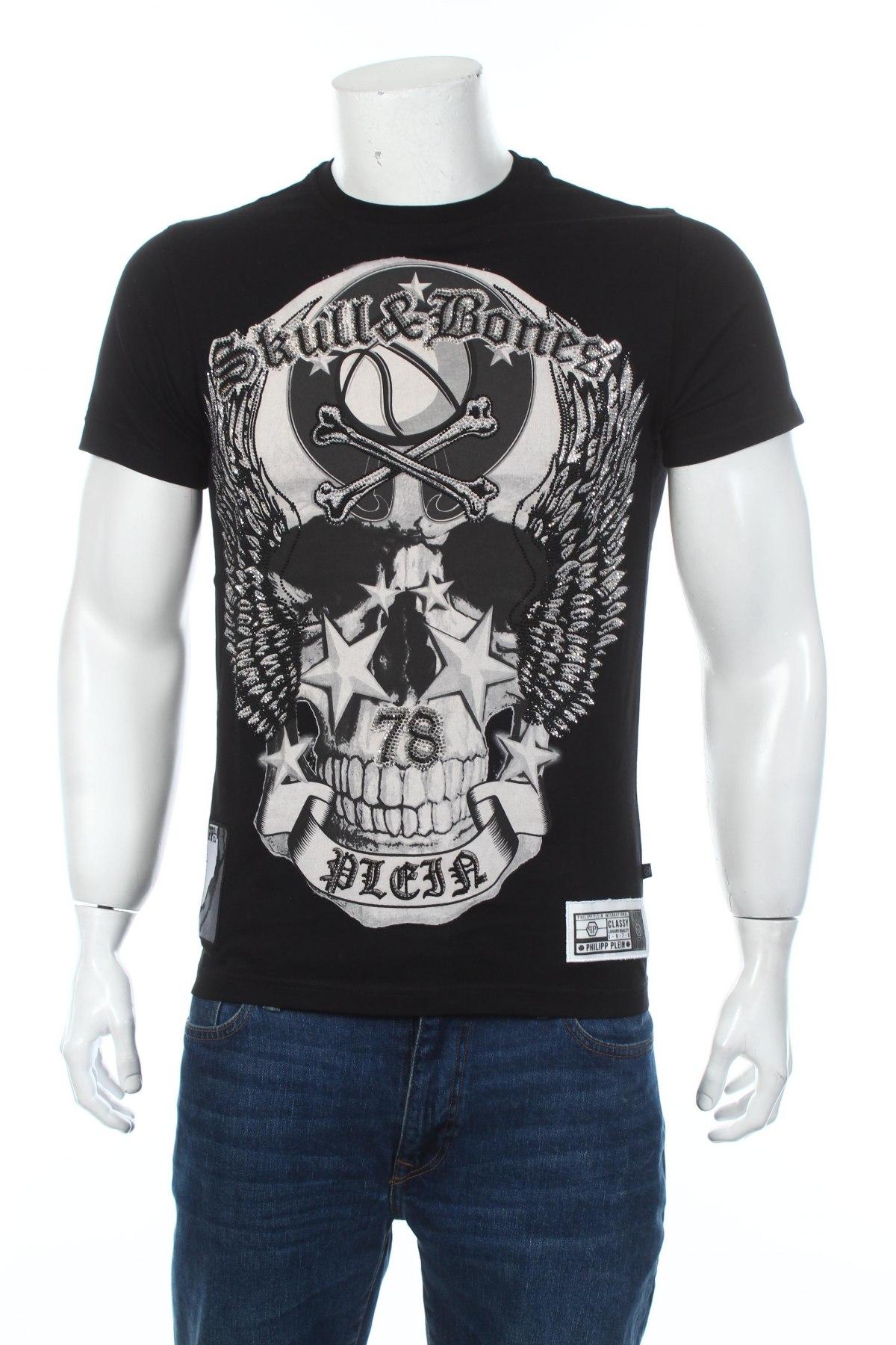 Pánske tričko  Philipp Plein, Veľkosť M, Farba Čierna, Bavlna, Cena  267,71€