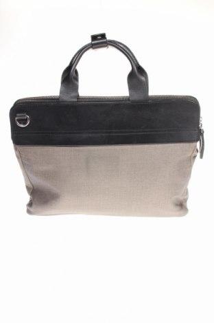 Чанта за документи Kiomi, Цвят Сив, Текстил, естествена кожа, Цена 33,60лв.