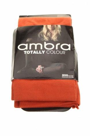 punčochače Ambra, Rozměr L, Barva Oranžová, Polyamide, bavlna, elastan, Cena  406,00Kč