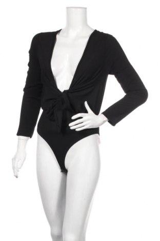 Дамска блуза - боди Boohoo, Размер XS, Цвят Черен, 97% полиестер, 3% еластан, Цена 27,36лв.