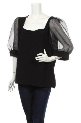Дамска блуза Boohoo, Размер 3XL, Цвят Черен, 95% полиестер, 5% еластан, Цена 30,24лв.