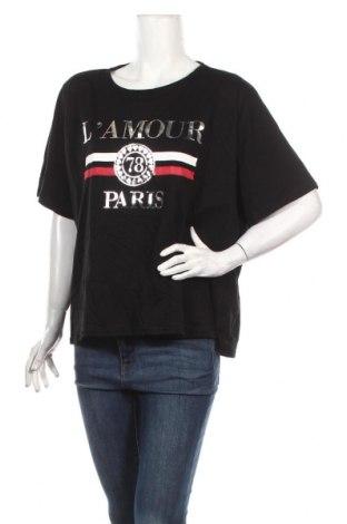 Дамска блуза Boohoo, Размер XXL, Цвят Черен, Памук, Цена 24,82лв.