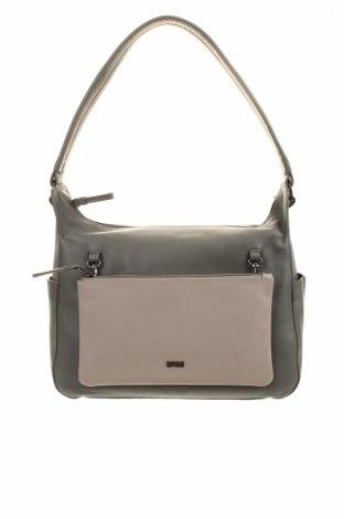 Γυναικεία τσάντα Bree, Χρώμα Γκρί, Γνήσιο δέρμα, Τιμή 64,77€