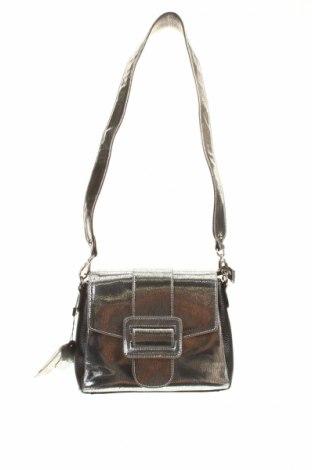 Γυναικεία τσάντα Kazar, Χρώμα Ασημί, Γνήσιο δέρμα, Τιμή 45,21€