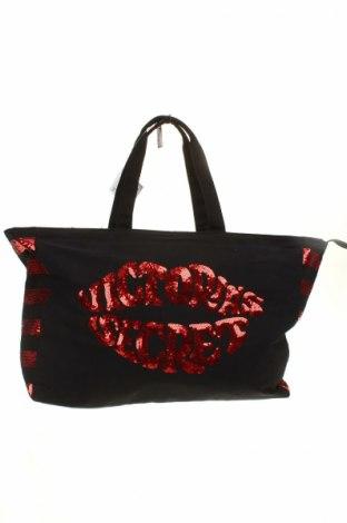 Дамска чанта Victoria's Secret, Цвят Черен, Текстил, Цена 38,95лв.