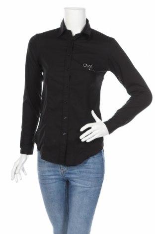 Γυναικείο πουκάμισο, Μέγεθος M, Χρώμα Μαύρο, 62% βαμβάκι, 35% πολυαμίδη, 5% ελαστάνη, Τιμή 15,28€