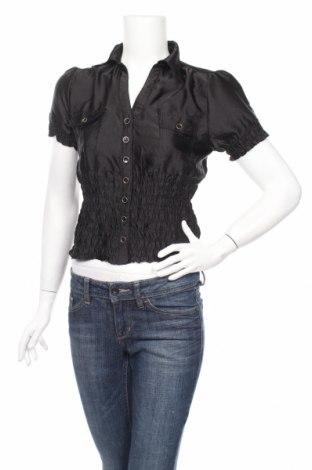 Дамска риза Chic A Booti, Размер S, Цвят Черен, 100% полиестер, Цена 6,00лв.