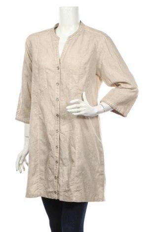 Дамска риза Mark Adam, Размер XL, Цвят Бежов, Цена 14,18лв.