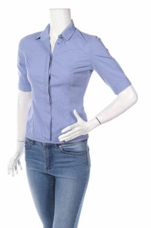 Γυναικείο πουκάμισο Stradivarius, Μέγεθος S, Χρώμα Μπλέ, 68% βαμβάκι, 23% πολυαμίδη, 4% ελαστάνη, Τιμή 12,73€