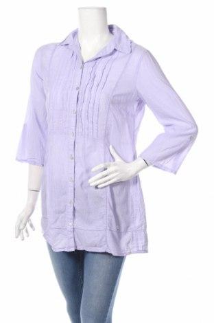 Γυναικείο πουκάμισο Tom Tailor, Μέγεθος M, Χρώμα Βιολετί, Βαμβάκι, Τιμή 11,75€