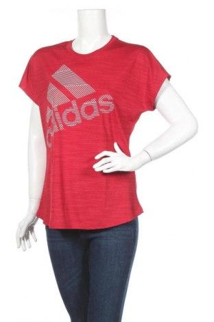 Γυναικείο t-shirt Adidas, Μέγεθος L, Χρώμα Κόκκινο, 100% πολυεστέρας, Τιμή 25,61€