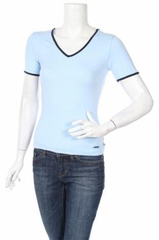 Γυναικείο t-shirt Adidas, Μέγεθος XS, Χρώμα Μπλέ, 90% πολυαμίδη, 10% ελαστάνη, Τιμή 10,28€