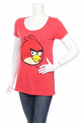 Дамска тениска Angry Birds, Размер XL, Цвят Червен, 50% памук, 50% полиестер, Цена 32,79лв.