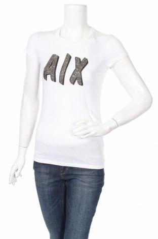 Дамска тениска Armani Exchange, Размер S, Цвят Бял, Памук, Цена 106,60лв.