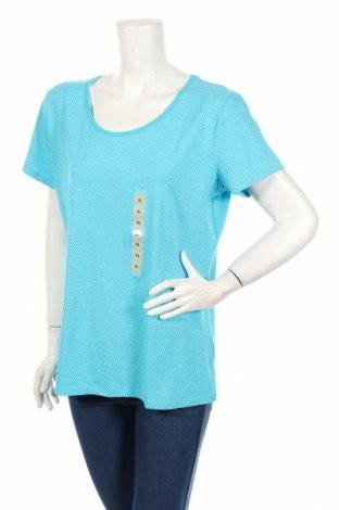Γυναικείο t-shirt C&A, Μέγεθος XL, Χρώμα Μπλέ, 95% βαμβάκι, 5% ελαστάνη, Τιμή 17,19€