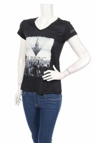Γυναικείο t-shirt Crivit, Μέγεθος S, Χρώμα Μαύρο, 88% πολυεστέρας, 12% ελαστάνη, Τιμή 11,86€