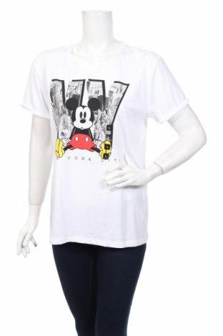Γυναικείο t-shirt Disney, Μέγεθος L, Χρώμα Λευκό, Βαμβάκι, Τιμή 17,82€