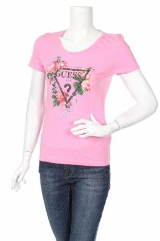 Дамска тениска Guess, Размер M, Цвят Розов, Памук, Цена 88,41лв.