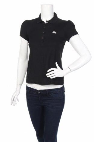 Γυναικείο t-shirt Lacoste, Μέγεθος M, Χρώμα Μαύρο, Τιμή 21,44€
