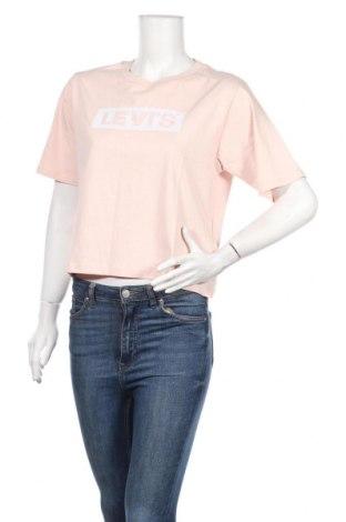 Дамска тениска Levi's, Размер XS, Цвят Розов, Памук, Цена 35,77лв.