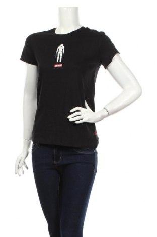 Дамска тениска Levi's, Размер S, Цвят Черен, 100% памук, Цена 43,07лв.