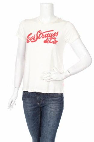 Дамска тениска Levi's, Размер S, Цвят Бял, 60% модал, 40% полиестер, Цена 41,59лв.