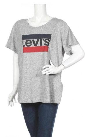 Дамска тениска Levi's, Размер XXL, Цвят Сив, 100% памук, Цена 59,00лв.
