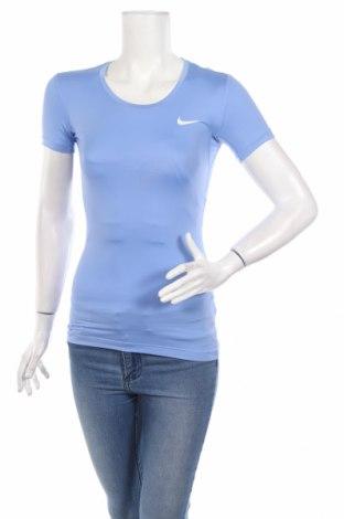 Γυναικείο t-shirt Nike, Μέγεθος XS, Χρώμα Μπλέ, 84% πολυεστέρας, 16% ελαστάνη, Τιμή 17,42€