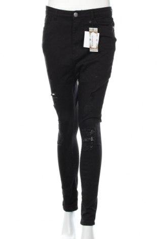 Дамски дънки Boohoo, Размер XL, Цвят Черен, 98% памук, 2% еластан, Цена 35,28лв.