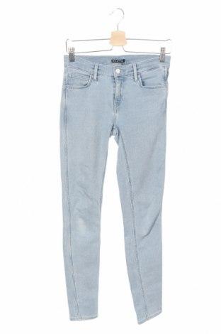 Дамски дънки Levi's, Размер S, Цвят Син, 95% памук, 4% полиестер, 1% еластан, Цена 80,92лв.