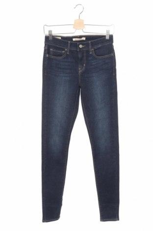 Дамски дънки Levi's, Размер S, Цвят Син, 85% памук, 9% полиестер, 6% еластан, Цена 108,12лв.